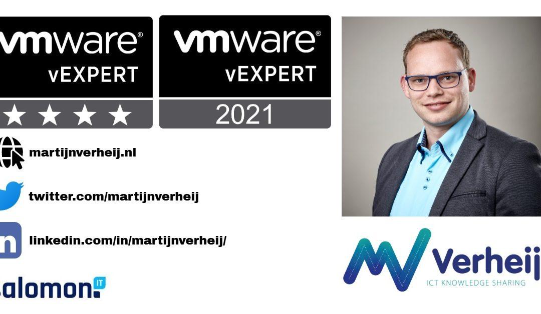 Martijn Verheij voor het vierde jaar benoemd tot vExpert