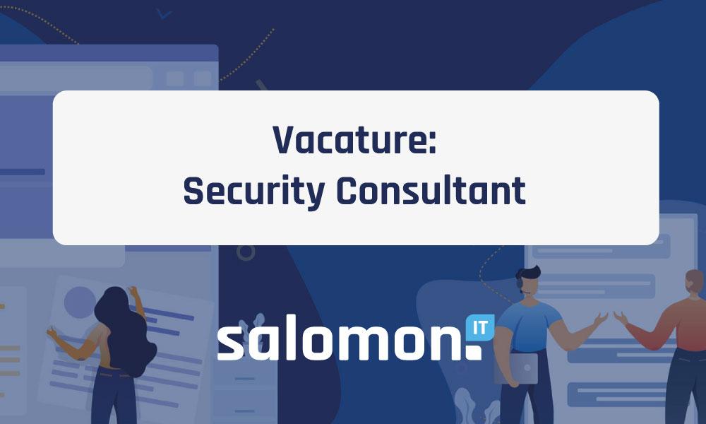 Vacature: Security Consultant