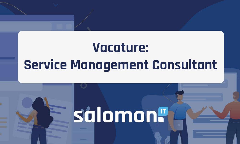 Vacature: Service Management Consultant